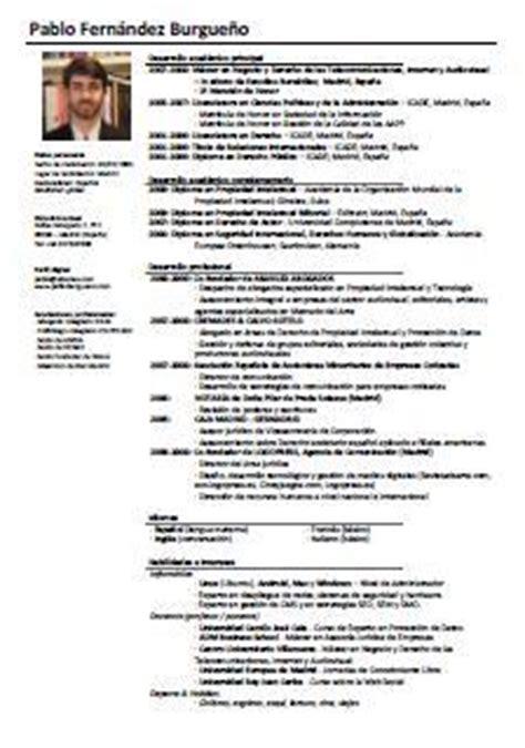 Plantilla De Curriculum Vitae De Abogado Modelo De Curriculum Para Abogados Cv Pablo F Burgue 241 O