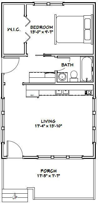 540 sq ft floor plan 18x30 tiny house 18x30h1 540 sq ft excellent