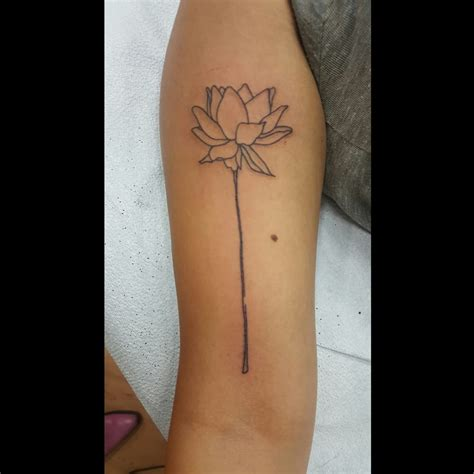 simple line tattoos simple line work lotus by mags yelp