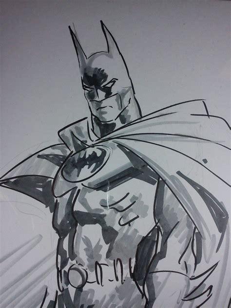 imagenes de batman a blanco y negro arte original de mike deodato jr batman dibujo a mano