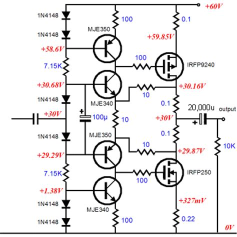 mosfet transistor audio lifier decibel calculator