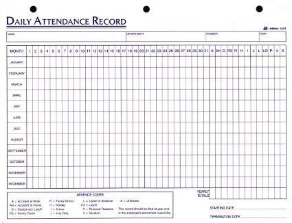 Attendance Sheet For Employees Excel 2016 Printable Calendar Templates Employee Attendance Record Template Excel