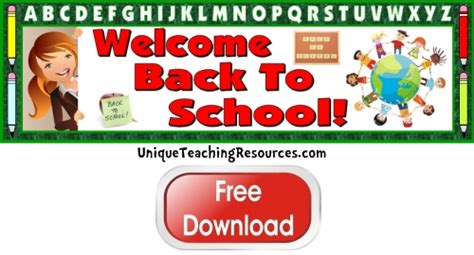 printable display banner free welcome back to school bulletin board display banner