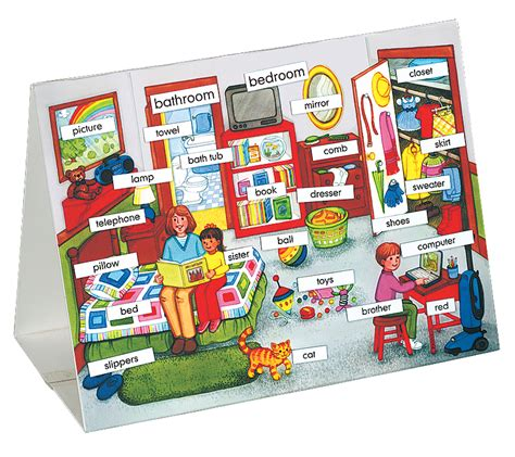 things in a bedroom in spanish english spanish vocabulary table top set national autism