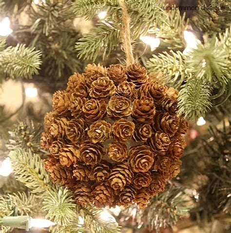 christmas ornaments bronze pinecones mini pine cone ornament and a giveaway uncommon designs