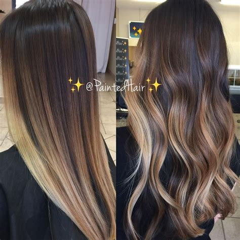 image result for blunt bangs and balayage coiffure coiffures m 232 ches et beaut 233 image result for balayage hair hair stlye cheveux et coiffures