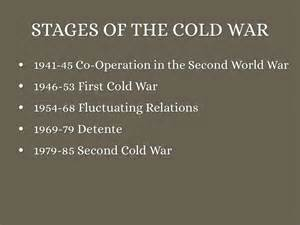 The War Stage stages of the cold