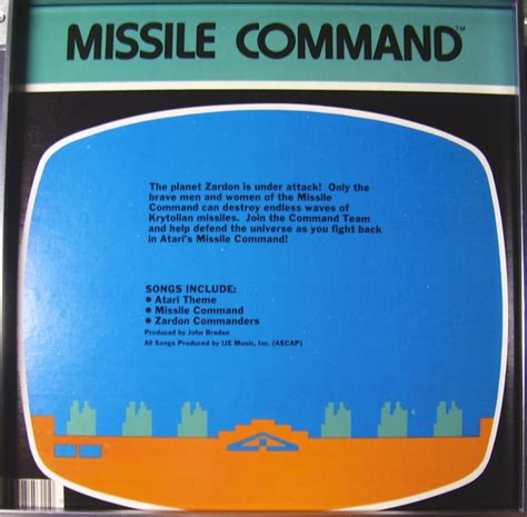 missile command the atari 2600 journal books list of atari 2600 vcs records