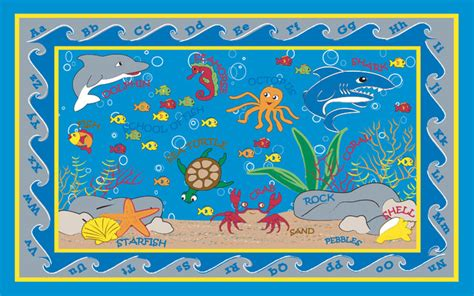 fish bathroom rug fish in the sea rug contemporary rugs by kidcarpet