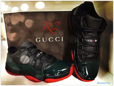 Jam Guci Unisex Leather air 11 low quot gucci quot customs by r2 customkicks sneakerfiles