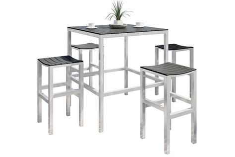 Nantucket Bistro Table Nantucket 5 Outdoor Bar Height Bistro Set At Gardner White