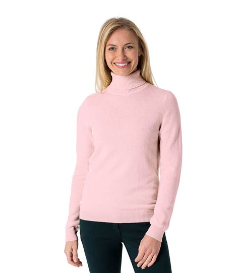 Fit Neck Sweater woolovers womens merino wool polo neck slim fit