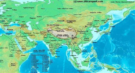 map of all of asia map of asian nations and territories in 565 ad version
