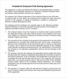 sample profit sharing agreement 10 free documents in