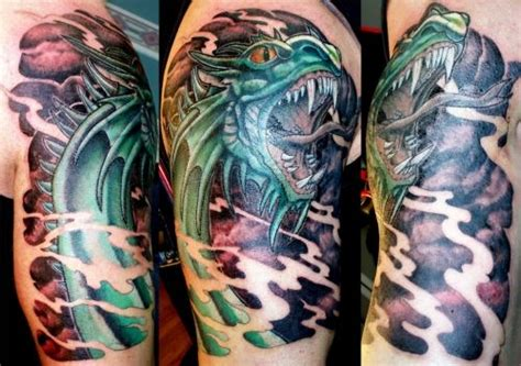 half sleeve dragon tattoo designs western helf sleeve design for http