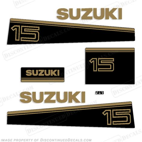 Suzuki Outboard Stickers Suzuki 15hp Decal Kit Late 80 S To Early 90 S