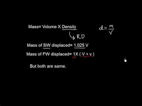 how to calculate allowance in pcb 2014 ship stability fresh water allowance fwa formula youtube