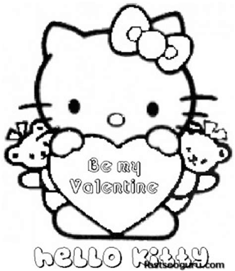 hello kitty coloring pages valentines day printable valentines day hello kitty be my valentine
