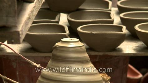 How To Make A Ghee Lamp by How To Make Clay Diwali Diyas Pottery At Paharganj