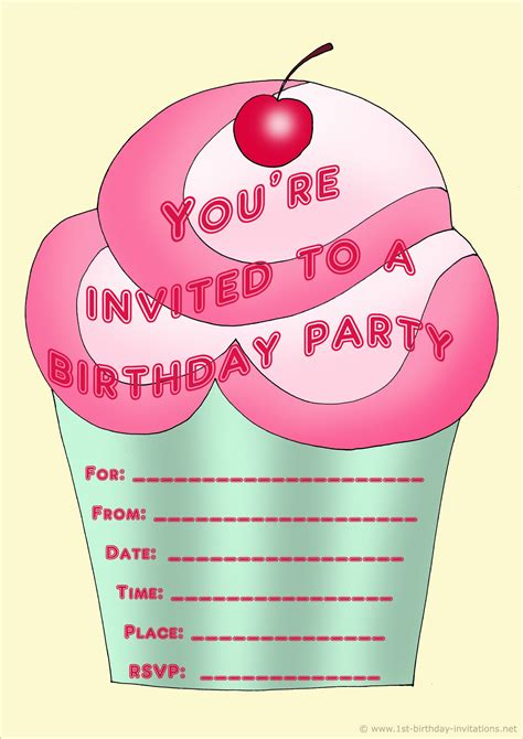 free invites for birthday printable personalized birthday invitations for 1st