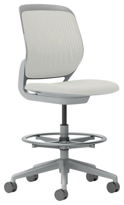 office furniture stool steelcase cobi stool platinum frame and soft casters