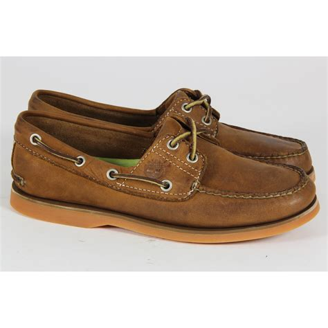 mens timberland boat shoes uk mens timberland casual lace up 2 eye boat shoes leather