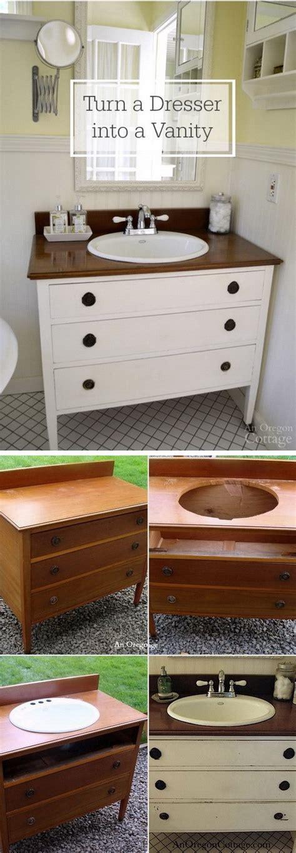 diy bathroom furniture 20 diy ideas to reuse furniture diy crafts ideas