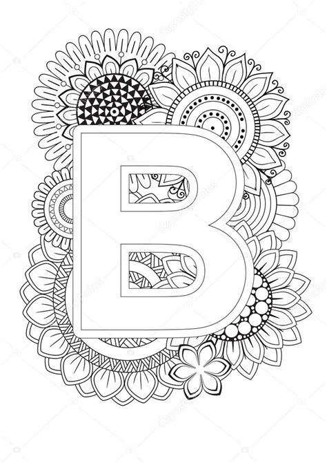 Coloring Book For Adult. Mandala and Sunflower. ABC book