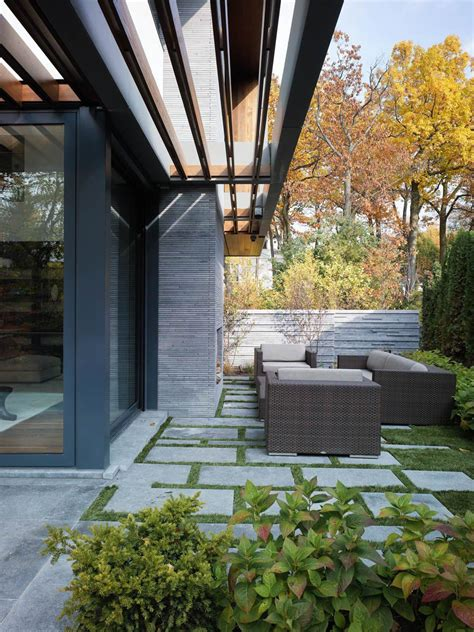 impressive modern home in toronto canada terrace outdoor living space impressive modern home in