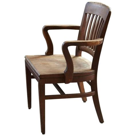 solid oak office armchair  wh gunlocke chair  wayland ny  stdibs