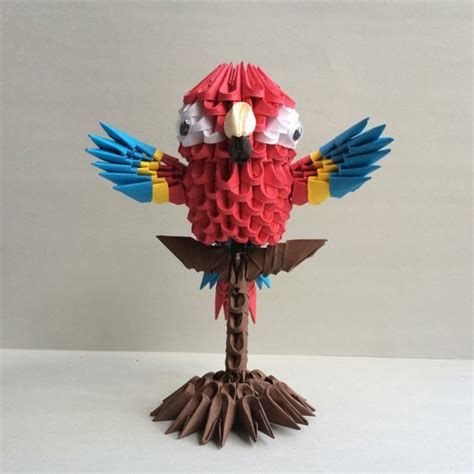 3d Origami Macaw - origami etsy and d on