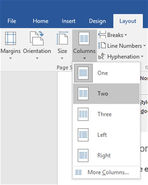 microsoft word two column layout legal document formatting tips for ms word 2016