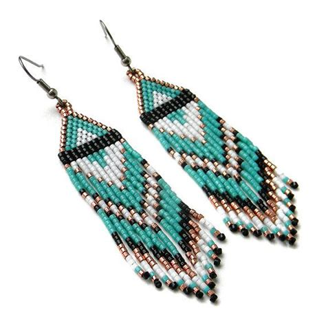 seed bead jewelry de 25 bedste id 233 er inden for seed bead earrings p 229