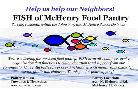 Fish Pantry by Fish Fundraiser Kit Fish Of Mchenry Food Pantry
