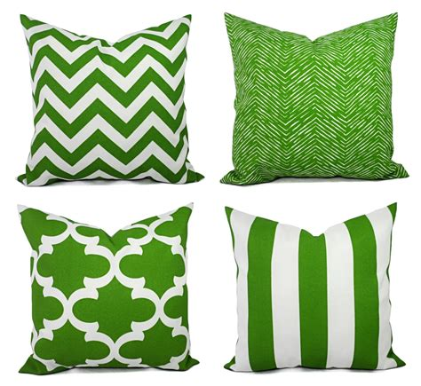 Outdoor Pillow Slipcovers by Patio Pillow Covers Outdoor Pillow Green Pillow Cover