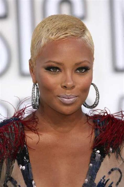 side shave hairsstyle african american short blonde hairstyles for african american women short