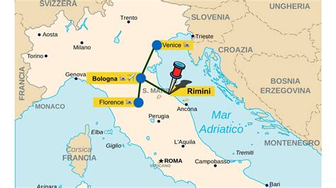 Be Hotel Rimini Italy Europe perugia italy map driving directions to thing perugia