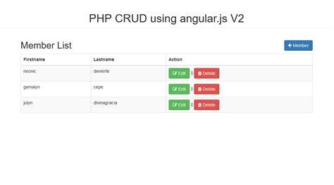 tutorial ci crud php crud operation using angular js v2 free source code