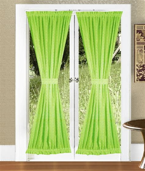 lime green door curtains
