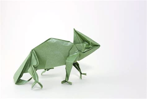 Origami Chameleon - origami reptiles page 1 of 2 gilad s origami page