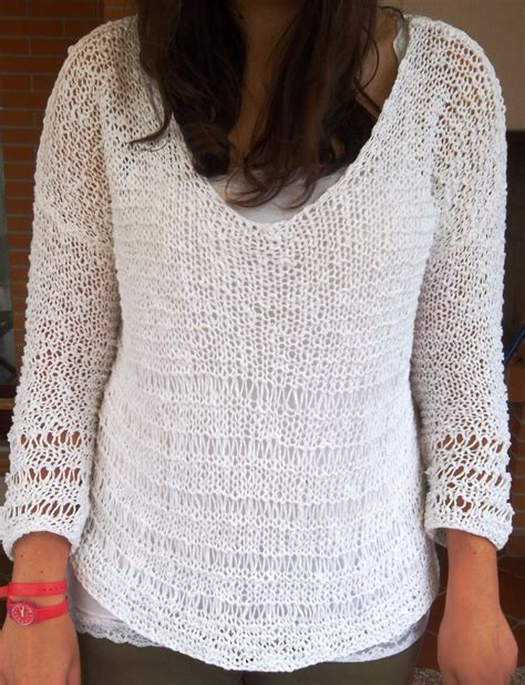 pattern maglia ai ferri maglia in cotone a maglie allungate maglie ai ferri