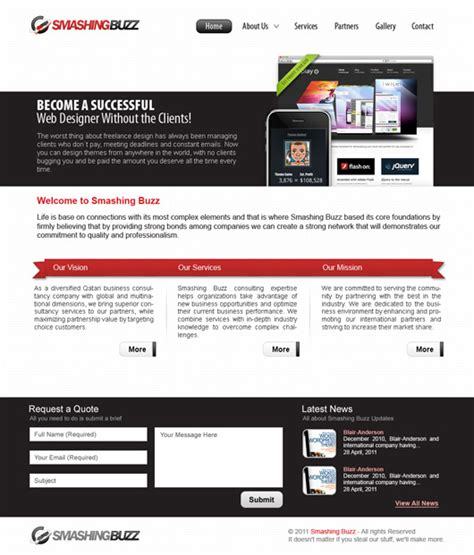 free website design tutorial designing a professional professional business web layout design with free psd