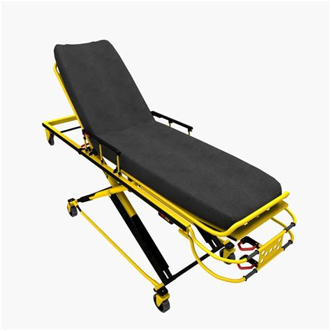 Strecher Ambulance 3d ambulance stretcher
