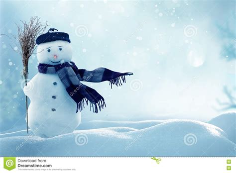 merry christmas  happy  year greeting card  copy spacehappy snowman standing