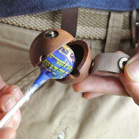 Quality Lollipop Belt luxury leather lollipop holders lollipop