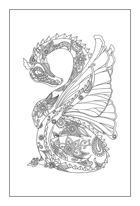 dragon coloring pages for adults to download and print for 95 dragon coloring pages to print detail printable