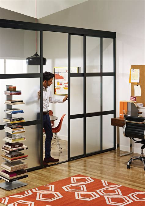 room divider doors sliding glass room dividers in home office the sliding