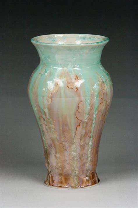 Crystalline Vase by Pottery By Peggy Crystalline Vase Pottery By Peggy