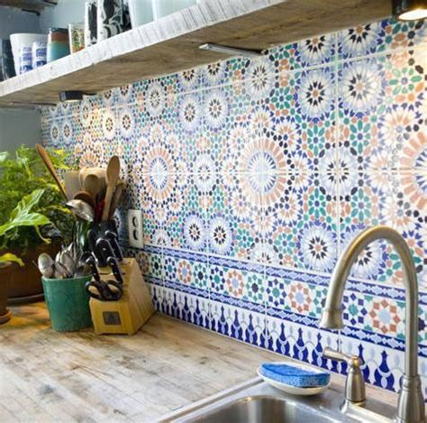 moroccan tile backsplash interior design
