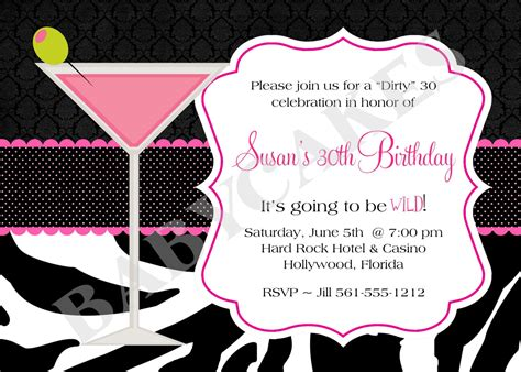 30th Birthday Invitations Templates Free Cloudinvitation Com 30th Anniversary Invitations Templates